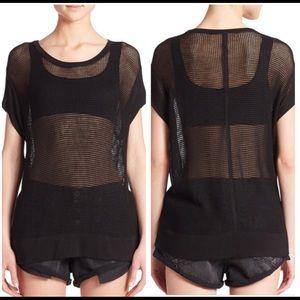 Rag & Bone Jeans Odette Mesh Knit Shirt Top XS